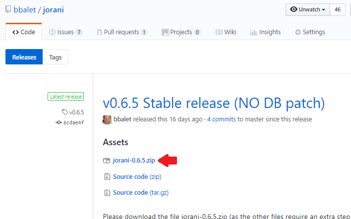 Github automatically generates developer files when releasing a new version