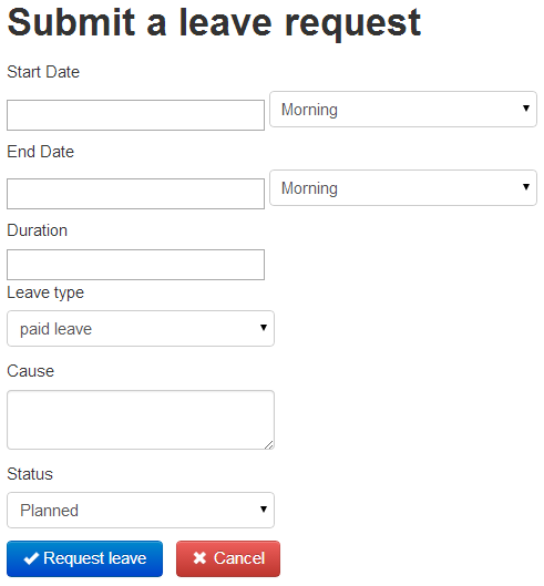 How to request a leave – Leave Request Form