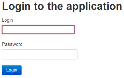 Login to the application