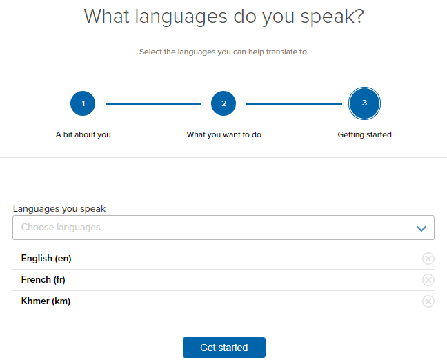 Choose all the languages you can speak
